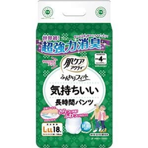 その他 (まとめ)日本製紙 クレシア 肌ケアアクティふんわりフィット 気持ちいい長時間パンツ L-LL 1パック(18枚)【×10セット】 ds-2307107