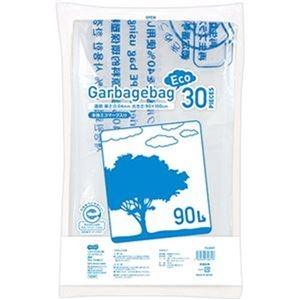 その他 (まとめ)TANOSEE リサイクルポリ袋(エコデザイン)透明 90L 1パック(30枚)【×10セット】 ds-2307502