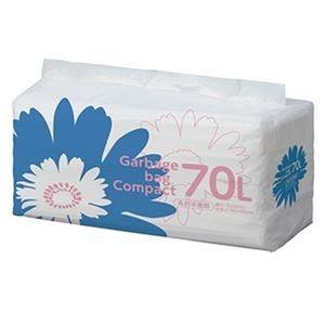 その他 (まとめ)TANOSEE ゴミ袋 コンパクト乳白半透明 70L 1パック(50枚)【×10セット】 ds-2307508