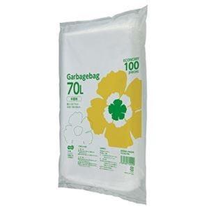 その他 (まとめ)TANOSEE ゴミ袋エコノミー 半透明 70L 1パック(100枚)【×10セット】 ds-2307516