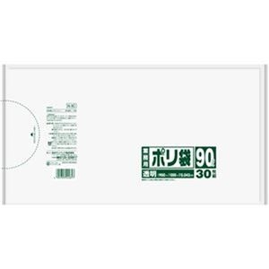 その他 (まとめ)日本サニパック 業務用ポリ袋 90L透明 N-9C 1パック(30枚)【×10セット】 ds-2307519