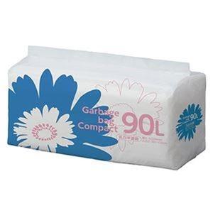 その他 (まとめ)TANOSEE ゴミ袋 コンパクト乳白半透明 90L 1パック(50枚)【×10セット】 ds-2307524