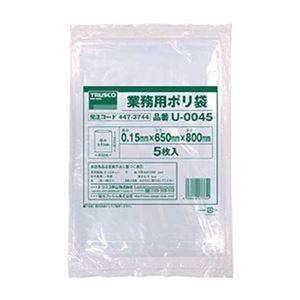 その他 (まとめ)TRUSCO業務用ポリ袋 0.15×45L U-0045 1パック(5枚)【×10セット】 ds-2307529