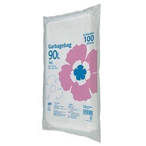 その他 (まとめ)TANOSEE ゴミ袋エコノミー乳白半透明 90L 1パック(100枚)【×10セット】 ds-2307531