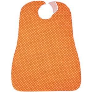 その他 (まとめ)カネモ商事 LOr食事用エプロンホワイトドットオンオレンジ 1枚【×10セット】 ds-2308011