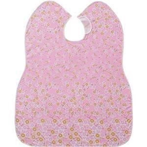 その他 (まとめ)ピジョン 肩までおおえる食事エプロン 花柄 ピンク 1枚【×10セット】 ds-2308024