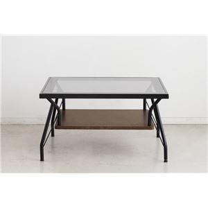 その他 リビングテーブル/ローテーブル 【70×70cm 角】 ガラス天板 スチール 『メリオ』 【組立品】【代引不可】 ds-2318949