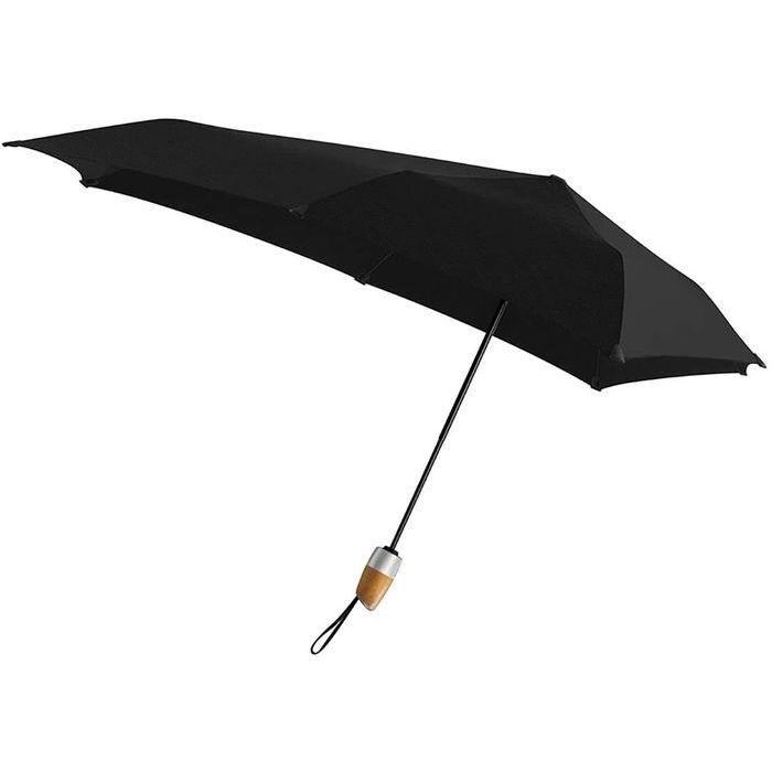 SENZ(センズ) 折りたたみ傘 Automatic Deluxe ピュアブラック 自動開閉 晴雨兼用 HH-01205