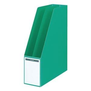 その他 コクヨ ファイルボックス A4タテ背幅85mm 緑 フ-450NG 1セット(10冊) ds-2288604