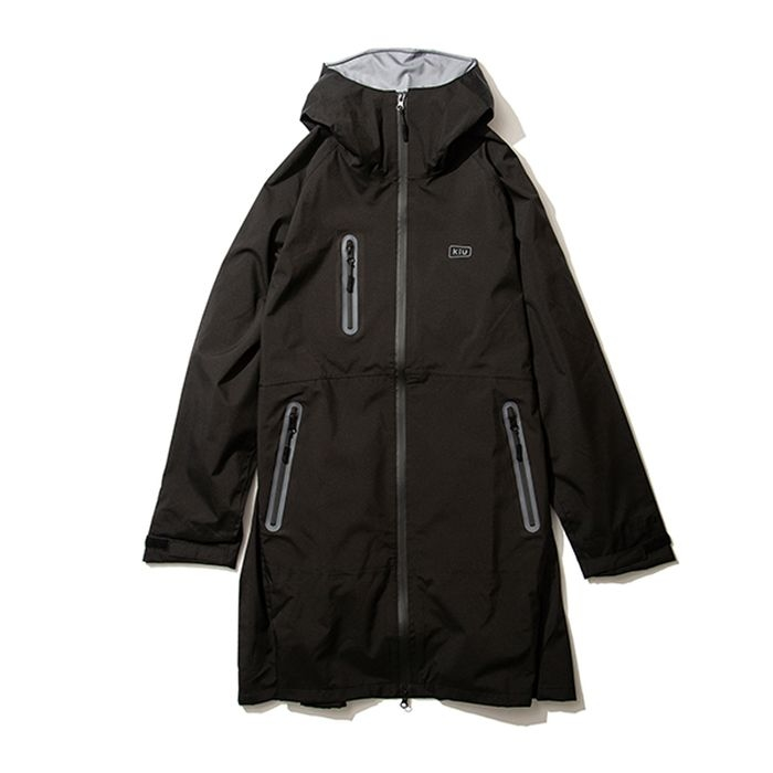 kiu(キウ) レインジャケット 2WAY STRETCH MULTI-FUNCTIONAL RAIN JACKET MIGHTY ブラック L HH-01679