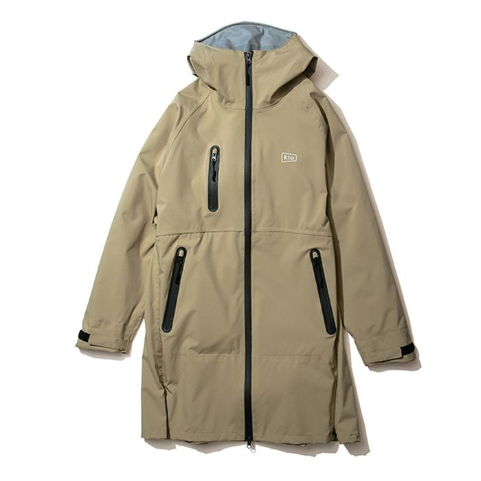 kiu(キウ) レインジャケット 2WAY STRETCH MULTI-FUNCTIONAL RAIN JACKET MIGHTY ベージュ L HH-01681