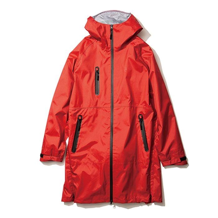 kiu(キウ) レインジャケット 2WAY STRETCH MULTI-FUNCTIONAL RAIN JACKET MIGHTY レッド L HH-01682