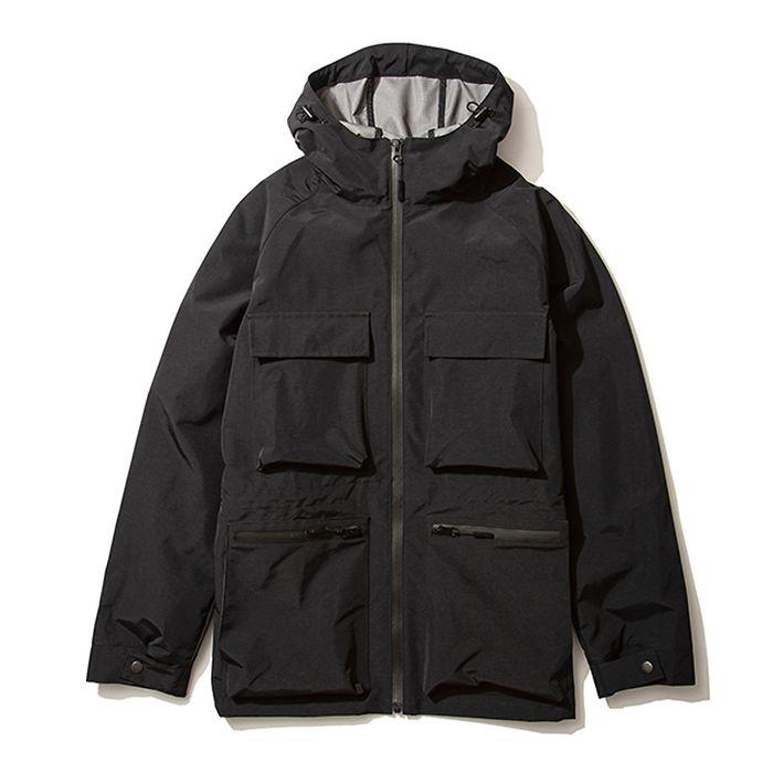 kiu(キウ) レインジャケット 4POCKET FIELD JACKET ブラック M HH-01697