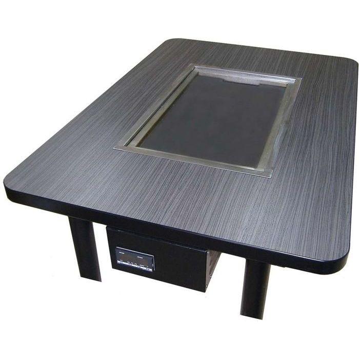 その他 鉄板重層加熱式電気グリドルテーブル KTE-188E(洋卓式6人用) EBM-6930000【納期目安:1週間】