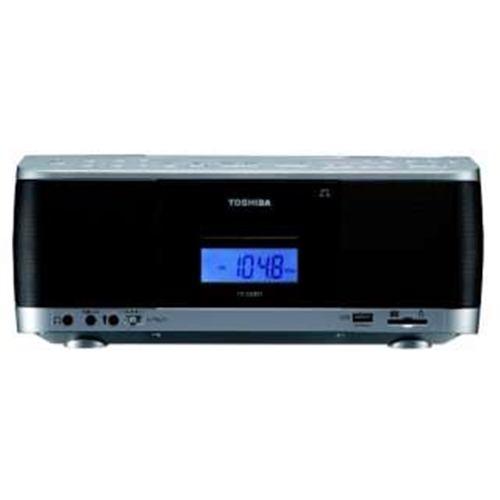 東芝 CDラジカセ シルバー 高音質スピーカー搭載(3W+3W) TY-CDX91-S