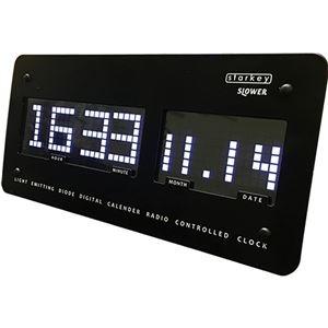 その他 SLOWER LED CLOCK 置き掛け兼用 電波時計 starkey(スターキー) ブラック ds-2324010