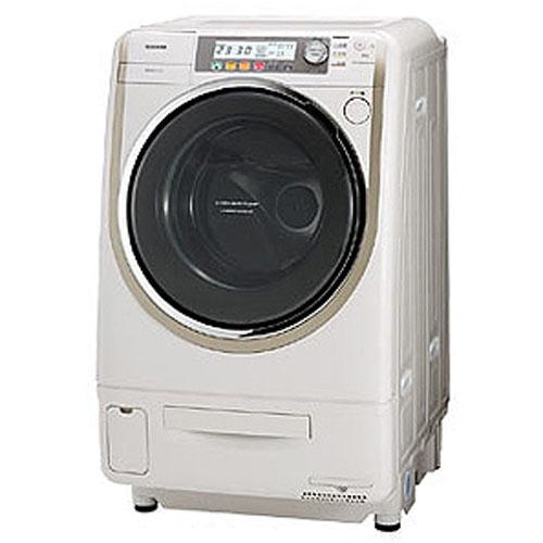 東芝 洗濯9kg/乾燥6kgななめ型ドラム式洗濯乾燥機(右開き) Nシャンパンゴールド TW-4000VFR-N