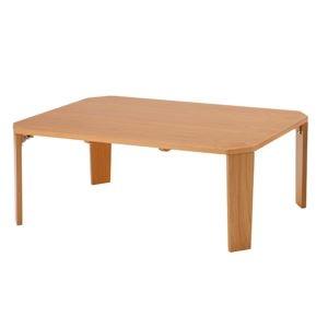その他 折りたたみテーブル 90 ナチュラル 〔幅90×奥行60cm〕 【完成品】【代引不可】 ds-2330459