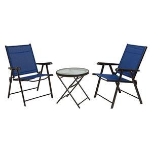 その他 テーブルチェアセット(テーブル×1、チェア×2) ネイビー 完成品 R4682SNV【代引不可】 ds-2333581