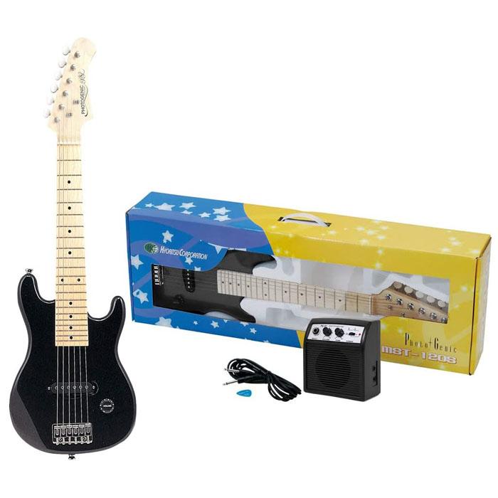 送料無料 PhotoGenic フォトジェニック ミニエレキギターセット MST-120S SET メタリックブラック MBK 人気ブランド 4534853133814 購買