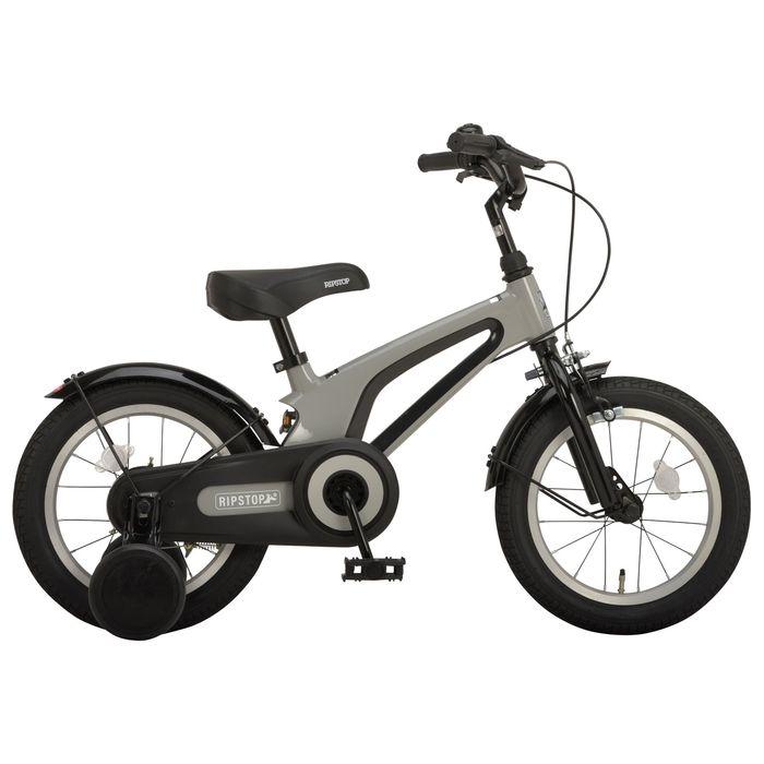 その他 RIPSTOP 子ども用 幼児車 14インチ 補助輪付き マグネシウムフレーム fetch14 RSK14-01 グレー 50566 OTM-50566