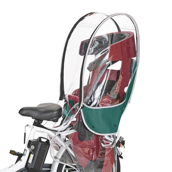 送料無料 新作入荷 OGK 蔵 技研 自転車 リアチャイルドレインカバー グリーン VerB 納期目安:1週間 OTM-60411 RCR-009