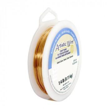 【送料無料】 Artistic Wire(アーティスティックワイヤー) ロングスプールス(業務用) ゴールド 0.25mm×約240m 30 CMLF-1601597【納期目安:1週間】