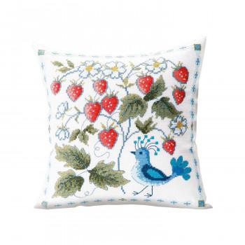 【送料無料】 オノエ・メグミ 刺しゅうキットシリーズ 花咲く庭の小さな物語 -テーブルセンター- ワイルドベリーと鳥 1203 CMLF-1643425【納期目安:1週間】