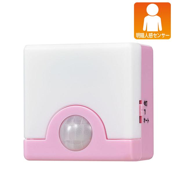 スーパーセール限定P10倍 エルパ LEDコンパクトセンサーライト ピンク PIR-SL200 PK ELPA アウトレット 希少 ディスカウント 朝日電器