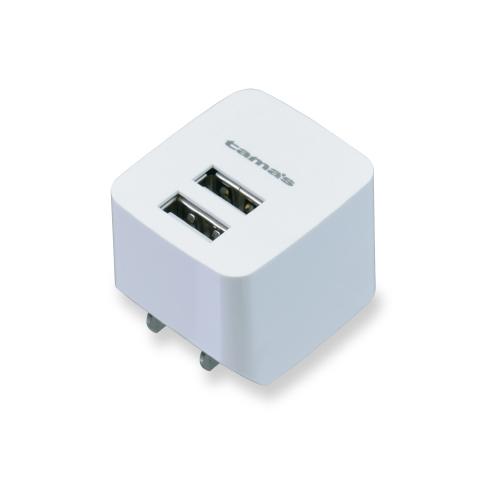 多摩電子 セール コンセントチャージャー 2.4A 2ポート最適充電 TA77UW アウトレット ホワイト 店
