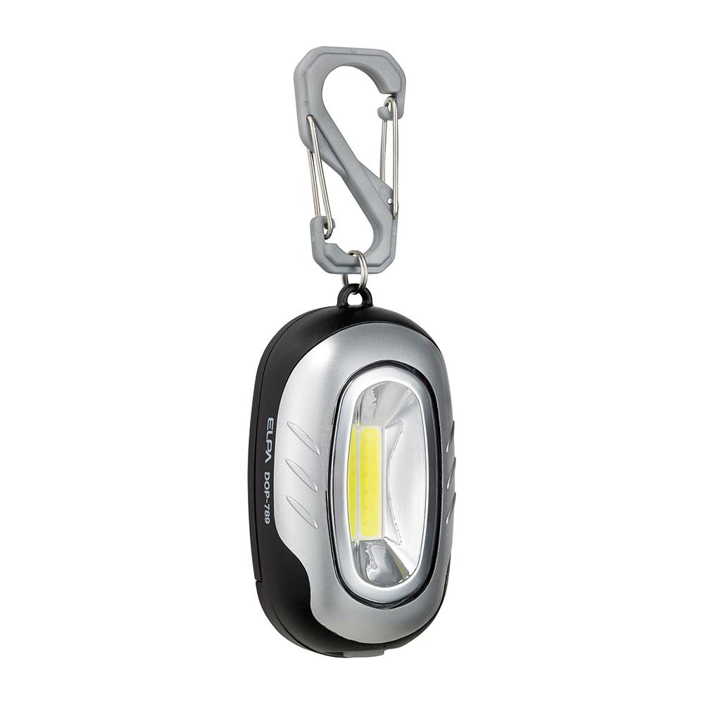 蔵 エルパ COB LEDキーライト シルバー SL DOP-789 出色 朝日電器 ELPA