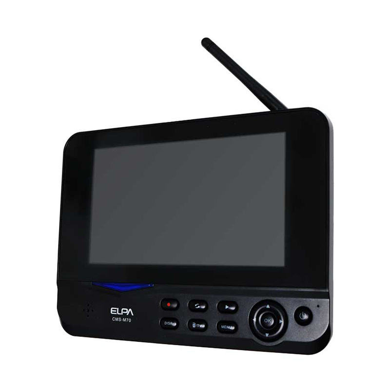 エルパ ワイヤレス 防犯カメラ用 7インチモニター(充電式) CMS-M70 CMS-C70用パーツ /ELPA 朝日電器