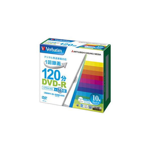 DVD-R 1回録画用 120分 10枚入 VHR12JP10V1/三菱化学メディア Verbatim