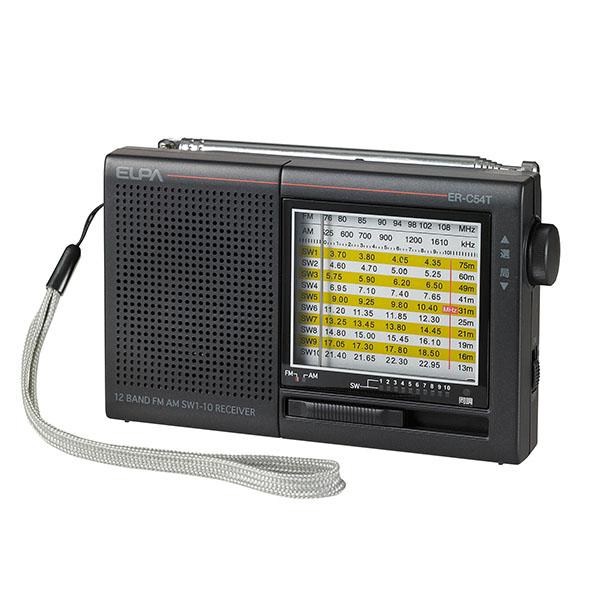 エルパ AM FM 短波ラジオ アナログ表示 ELPA 朝日電器 ER-C54T 新品未使用 アウトレット 入荷予定