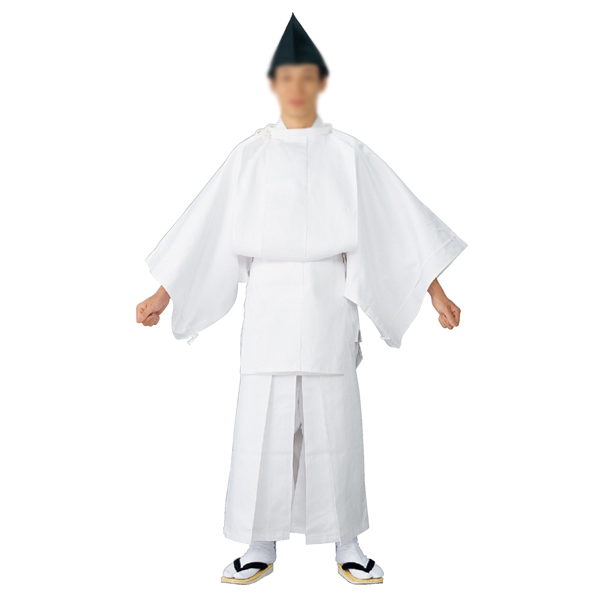 白丁(烏帽子付き) =神社、神職、衣装、神主、宮司=