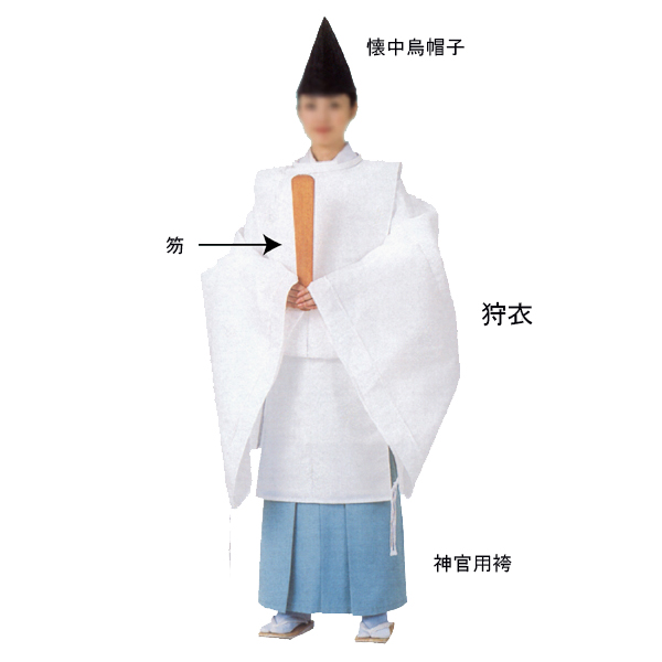 狩衣(かりぎぬ) =神社 舞台 神楽 神主 宮司=