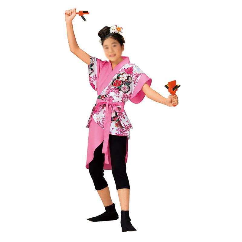 よさこいコスチューム 上衣 鳴子入れ付ベルト ジュニア140サイズ =よさこい衣装 YOSAKOIソーラン よさこい祭り=