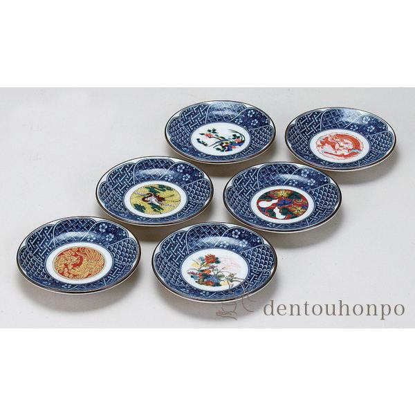 Plate era picture 3.3 6P (the pretty popularity that recommendation made in Japanese dishes set ... & KUTANI-YAKI DENTOUHONPO | Rakuten Global Market: Plate era picture ...