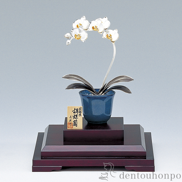 Kutani Yaki Dentouhonpo Pure Silver Orchis Graminifolia B 1
