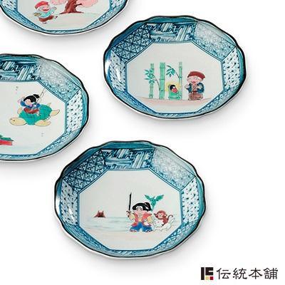 号 4.5 板对齐和古老传说的日本婚姻庆典礼品出生庆祝出生婚姻内祝我建庆祝返回礼品礼物庆祝礼物小板板板餐具在设置乐器日本陶器烧 Kutani fs3gm