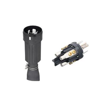 アメリカン電機 防水形プラグ 引掛形 (100A/接地形 3P/600V) 黒色 41062RW