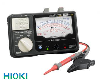 日置電機(HIOKI) 絶縁抵抗計 アナログメグオームハイテスタ4レンジ IR4042-10