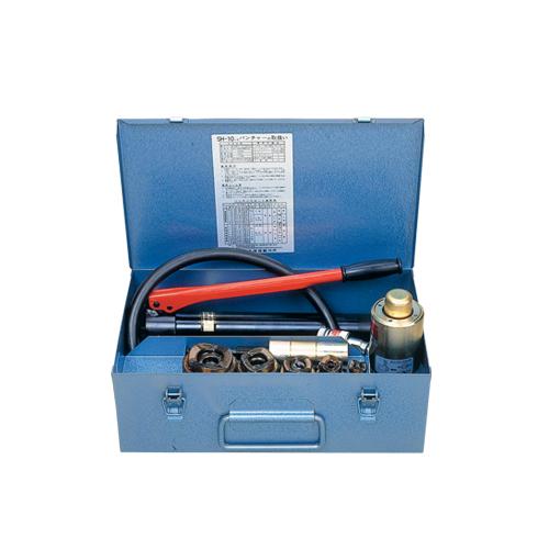 泉精器製作所 油圧式パンチャ(油圧ヘッド分離式) SH-10-1(B) ポンプ付 厚鋼3インチセット (SH10B3)