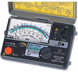 共立電気計器 アナログ絶縁抵抗計(小型2レンジ)/キューメグ 3144A