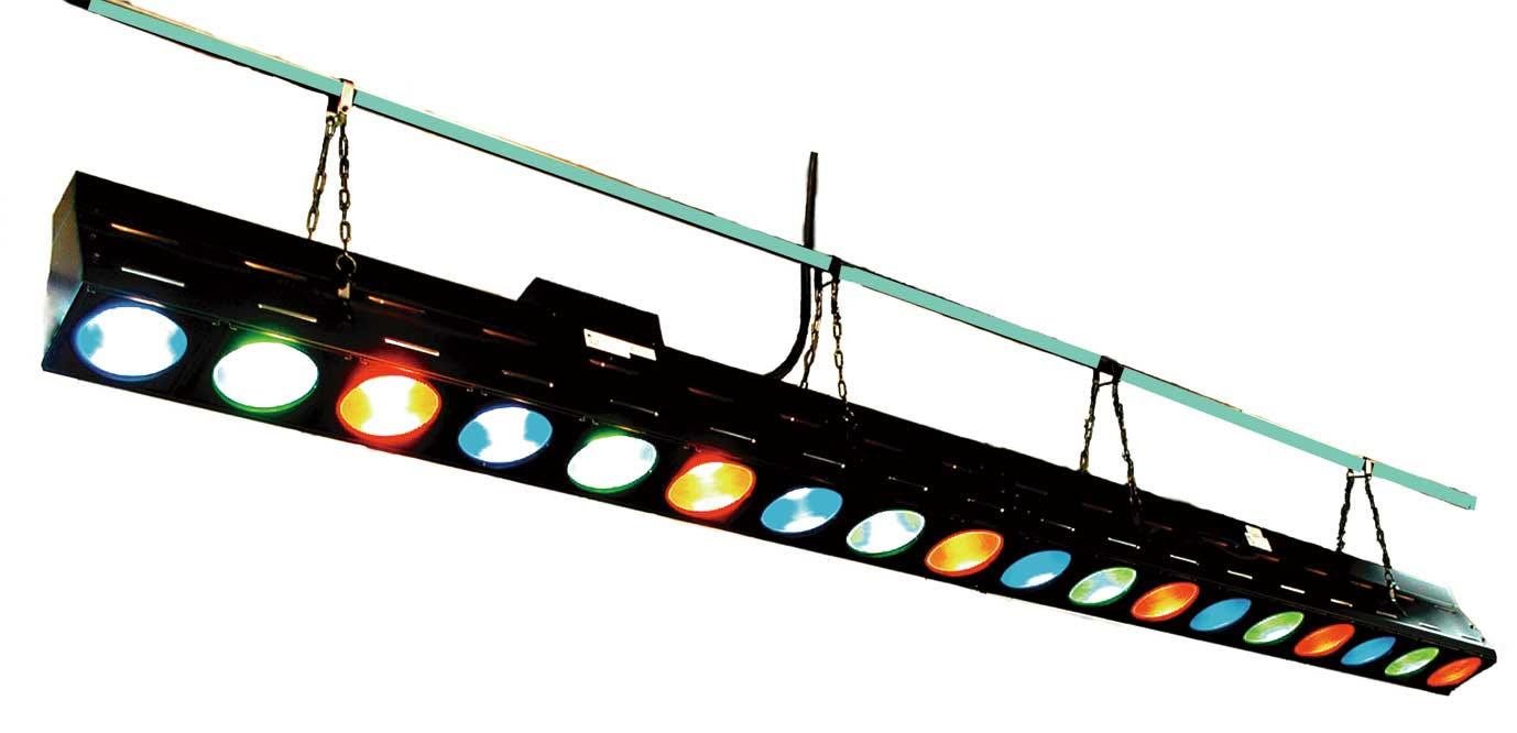日照 舞台上部(吊もの) NBF-2604K 150Wボーダーライト9灯 ブラック(中間用) (NBF2604K)