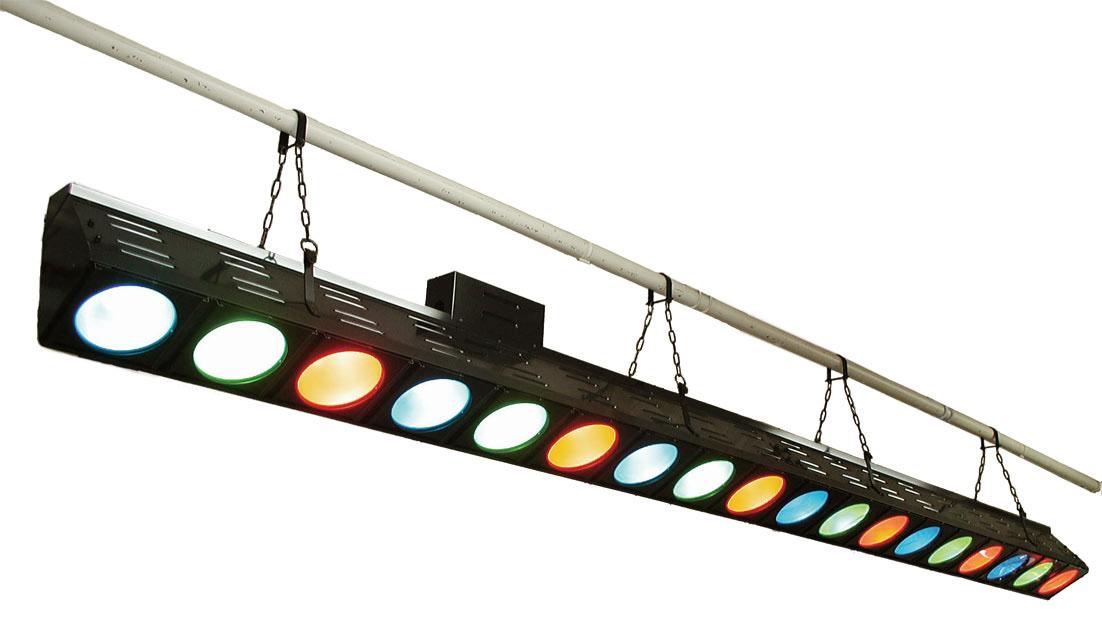 日照 舞台上部(吊もの) NBF-2703K 130Wハロゲンボーダーライト9灯 ブラック(電源端子付) (NBF2703K)