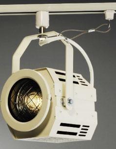 日照 LED BLE-FD50W 50W LED吊下フレネルレンズスポット ライティングレールタイプ アイボリ- (BLEFD50W)