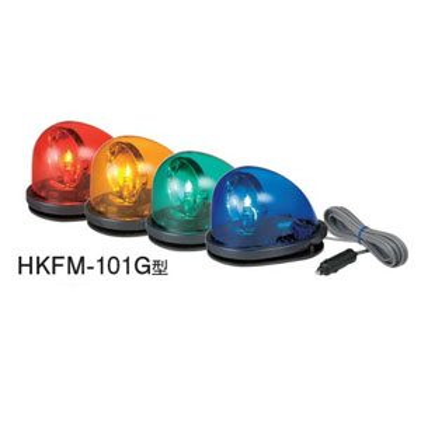 パトライト 流線形回転灯 HKFM-101G-G 緑 (DC12V) ゴムマグネット着脱式