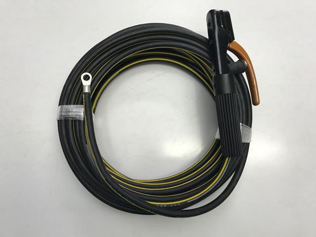 ☆新品☆溶接用WCTホルダー線 イエローライン(黄/黒) 22SQ 20m 片側端子R22-10 完成品