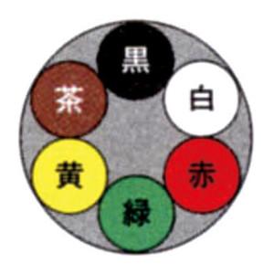 富士電線 VCTF 0.75SQx6C(芯) 100m巻 丸形(丸型) ビニールキャブタイヤコード ☆領収書可能☆